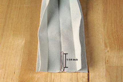 mark the armhole binding