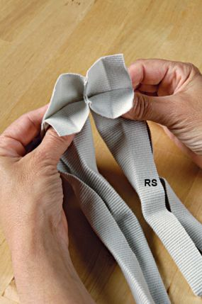 fold the armhole bindings