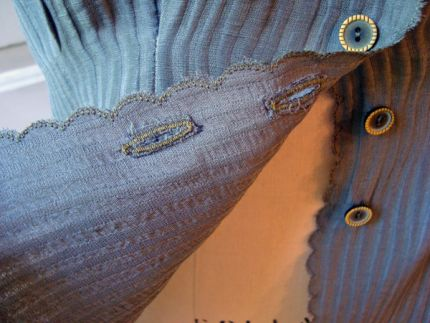 A Tip for Reinforcing Buttonholes and Buttons
