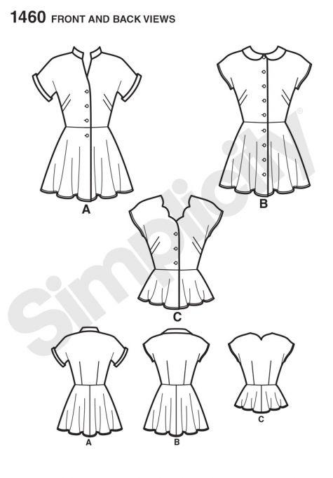 simplicity pattern 1460