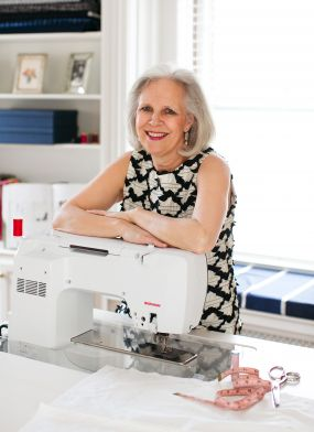 Helen and her sewing machine