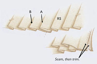Conceal a seam within a pleat