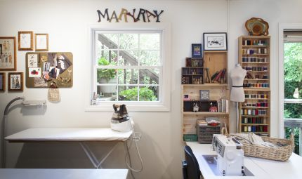 Mary Ray's sewing room