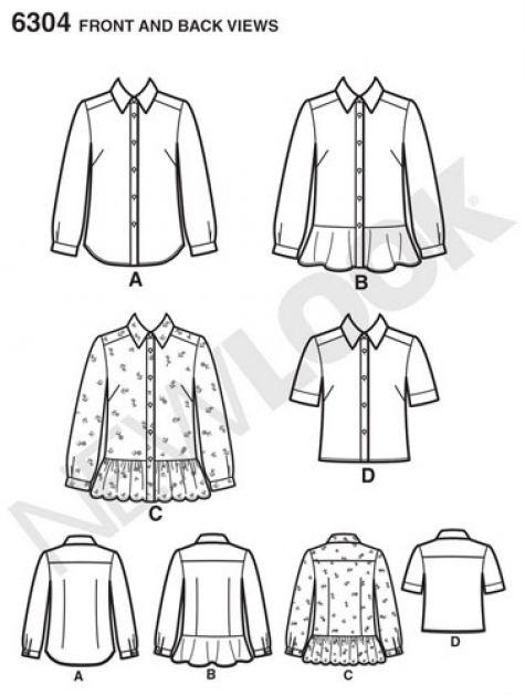 new look pattern 6304