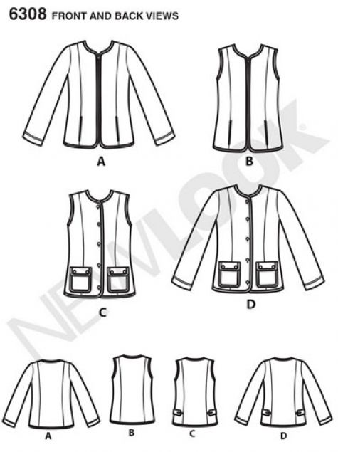 newlook pattern 6308