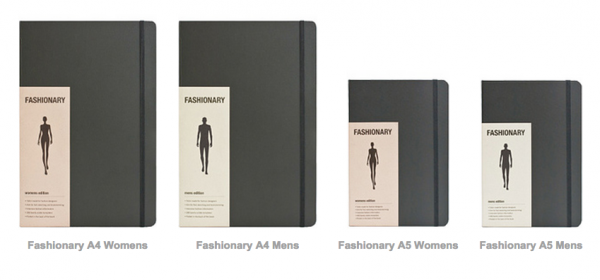 fashionary sketchbook sizes