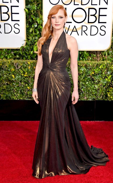 Jessica Chastain at Golden Globes