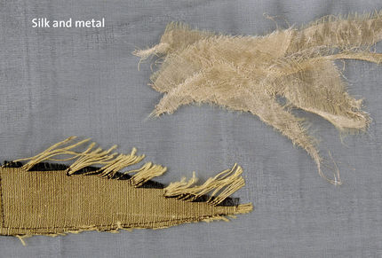 Silk and metal fabric