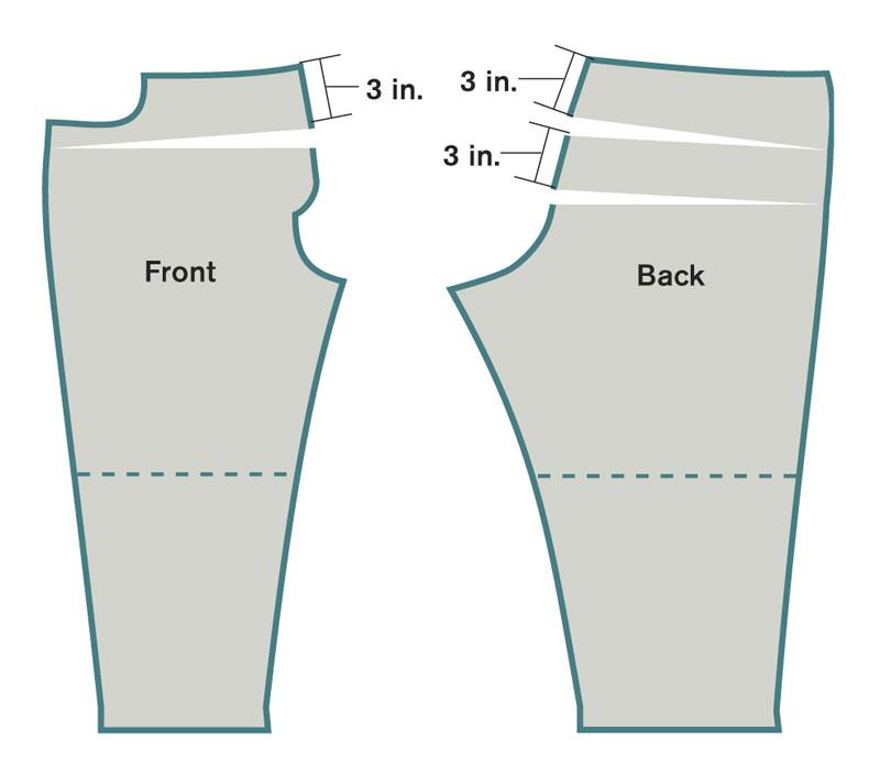 Shorten or lengthen the crotch