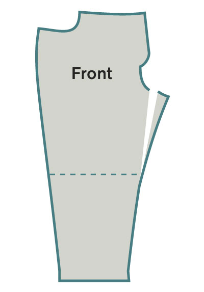 Move the front inseam out