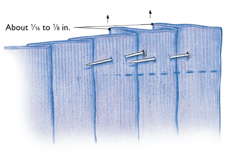 Keep linen pleats from spreading