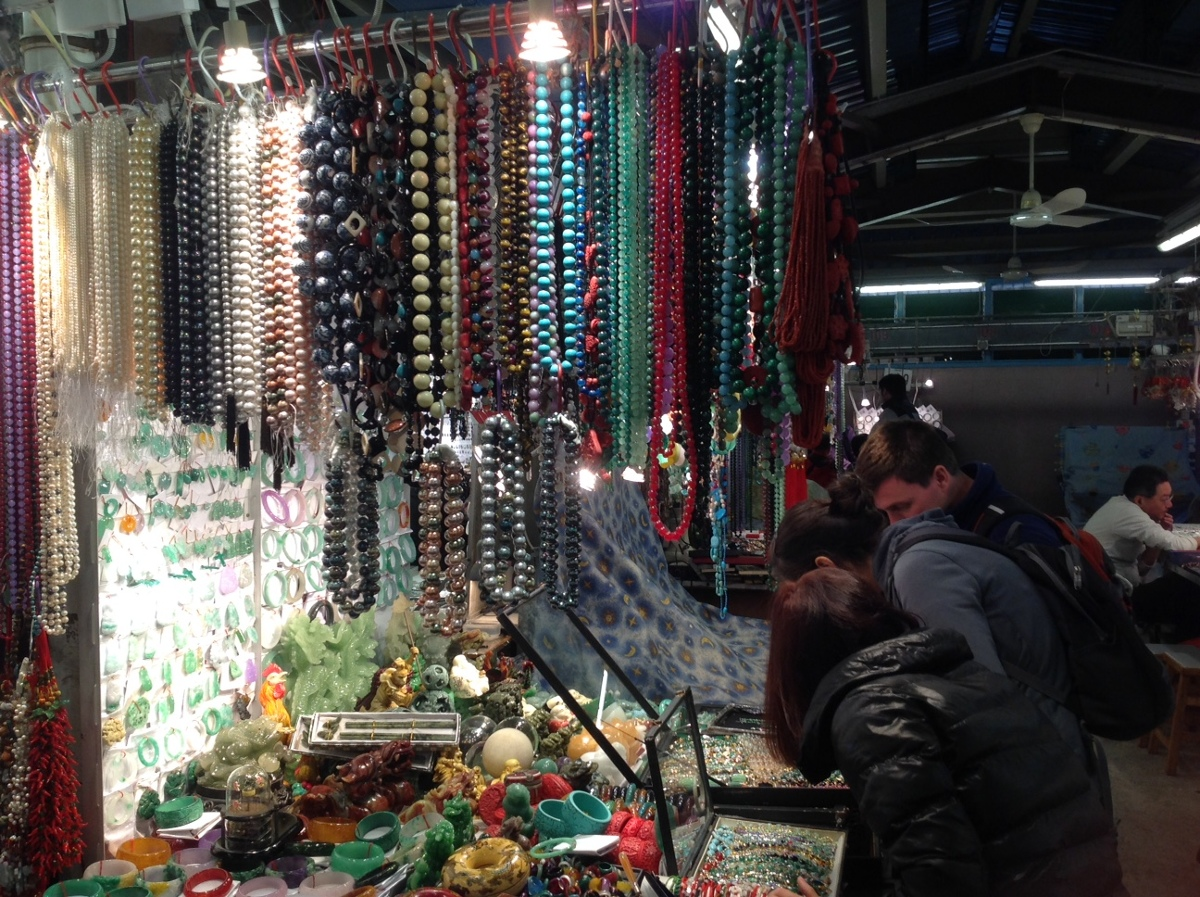 Jade market in Hong Kong