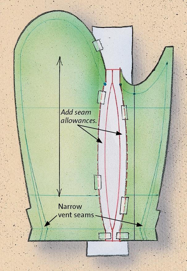 converting offset seam sleeves 4