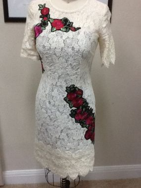 lace and roseses dress