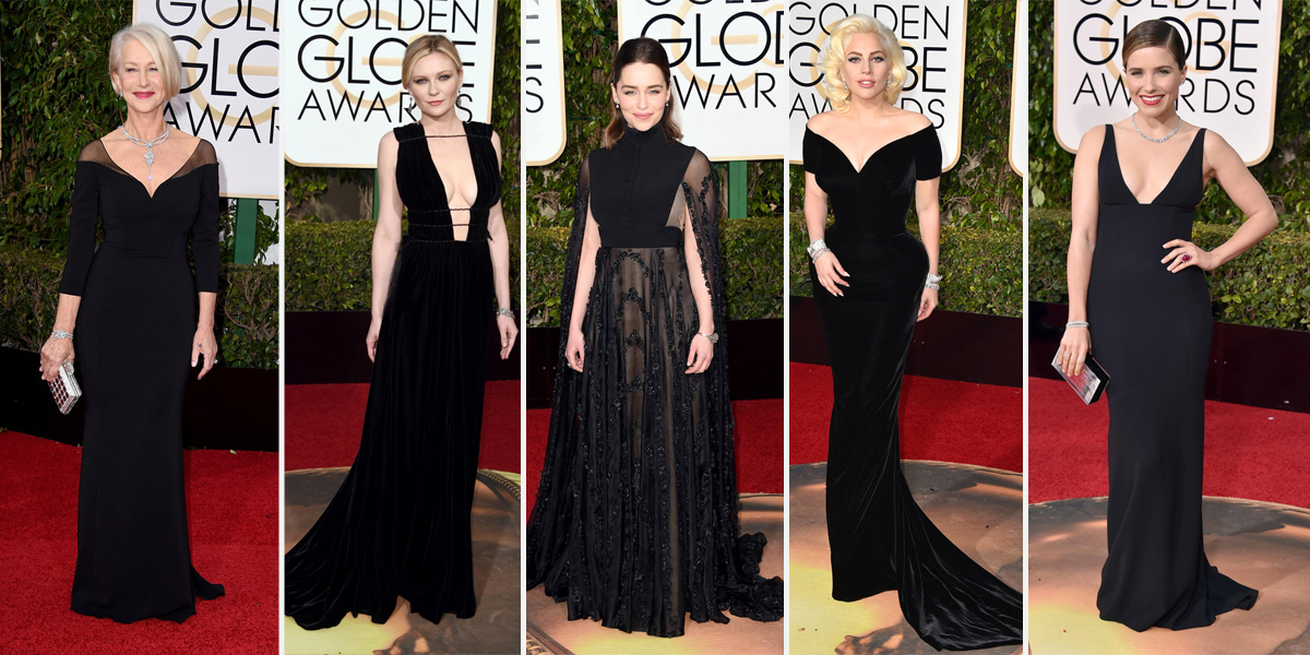 Golden GLobes 2016 black gowns