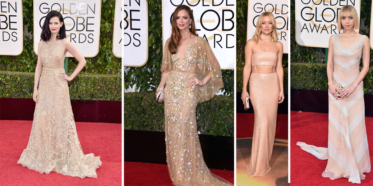 Golden Globes 2016 nude gowns
