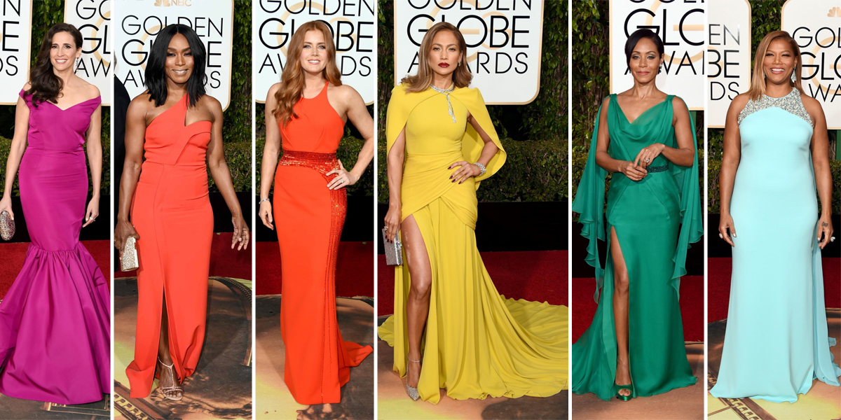 golden globes 2016 jewel tone dresses