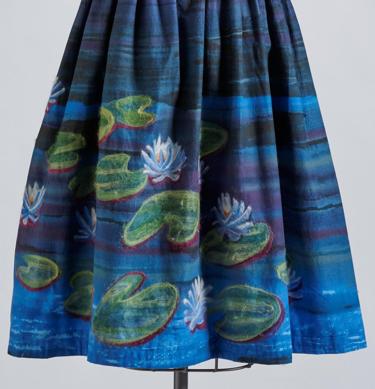 water lilies skirt