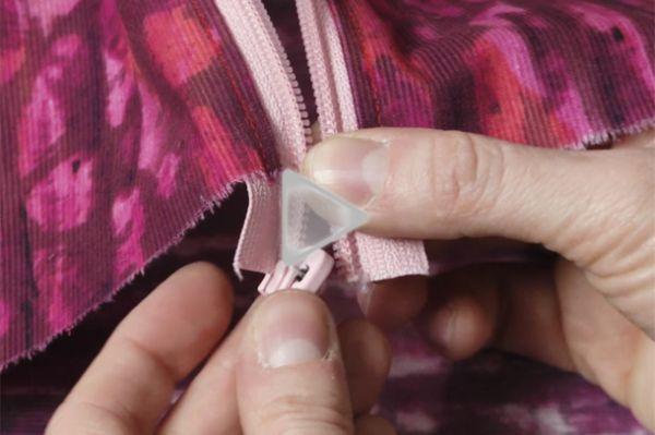 install folded nylon coil zipper