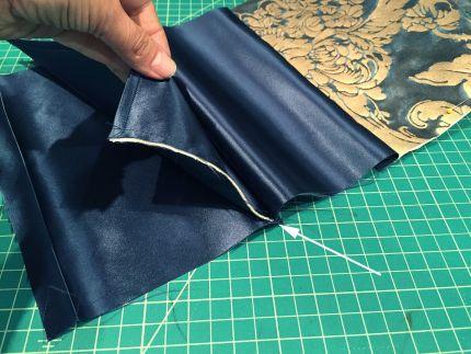 lining envelope clutch