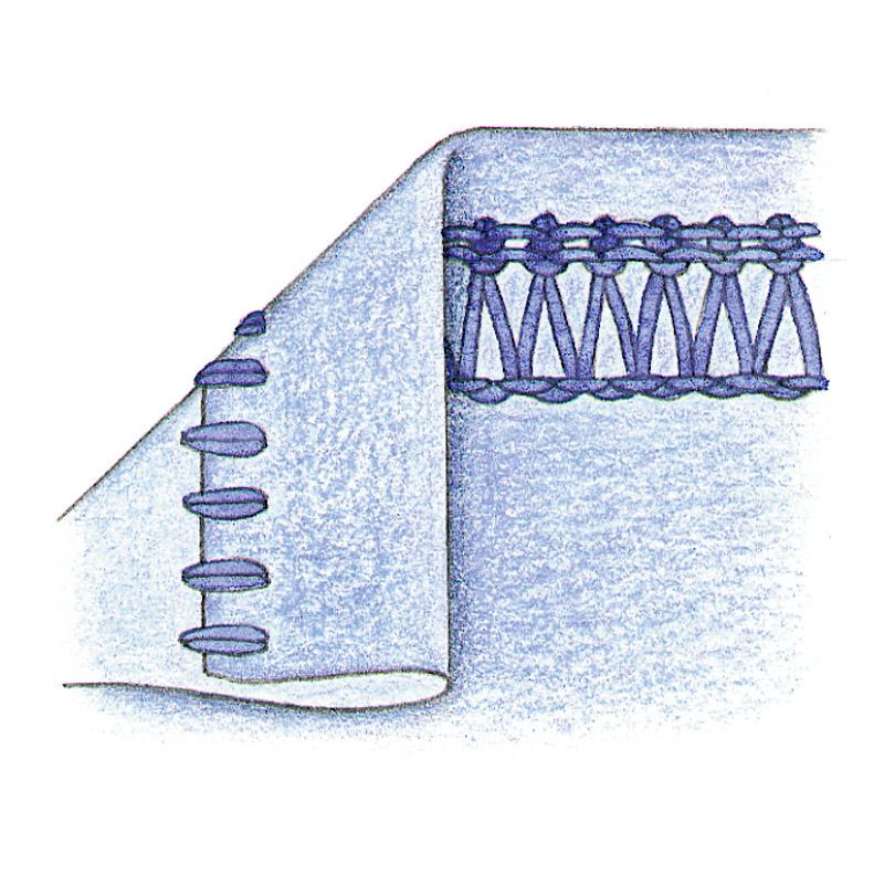 Flatlock-hem stitch