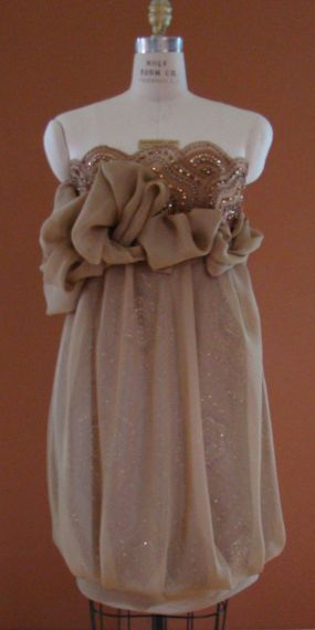 Chiffon/Beaded Tulle Dress