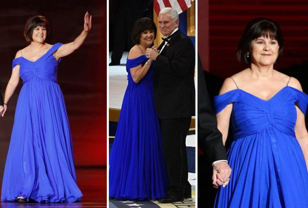 Second Lady Karen Pence inaugral ball gown