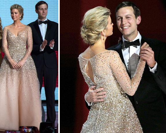 ivanka trump inaugural gown