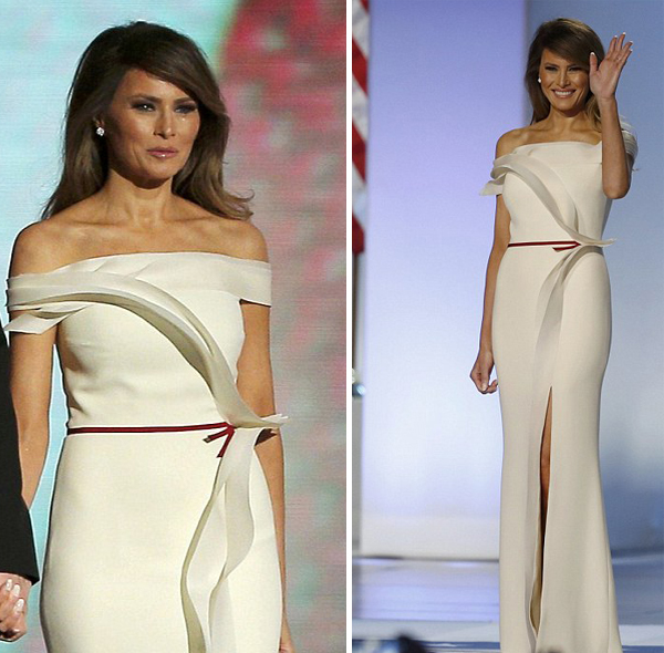 First Lady Melania Trump inauguration gown