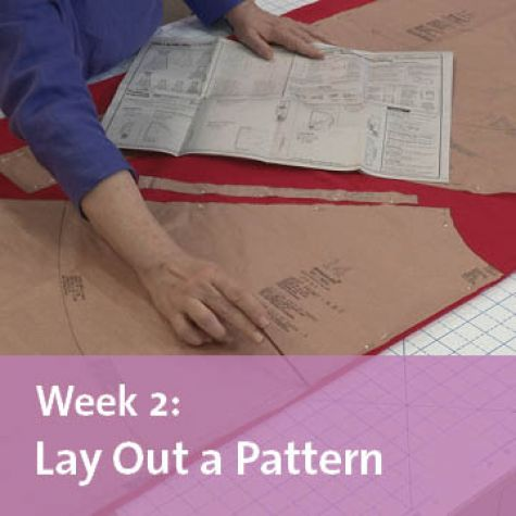 free sew-along week 2 lay out a pattern