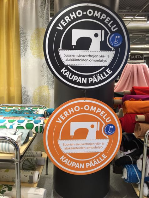 Eurokangas curtain sewing promotion
