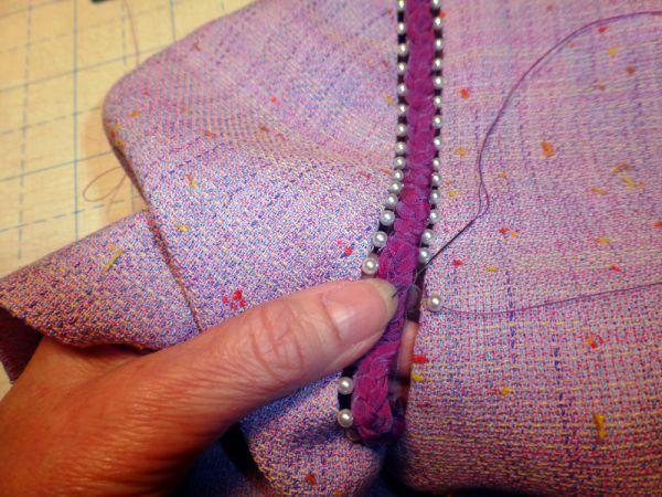 adjusting the sleeves for embellishment