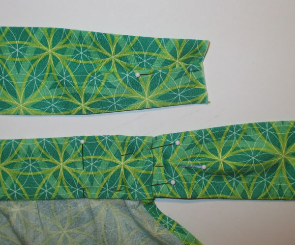 Pleat and Pin the Waist Straps