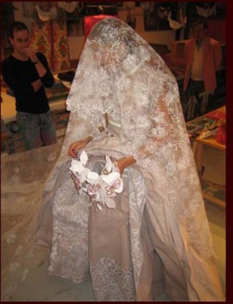 paper wedding dress