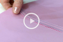 sew a stitch and pink seam finish