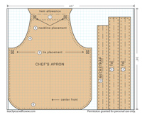 free chef's apron pattern download